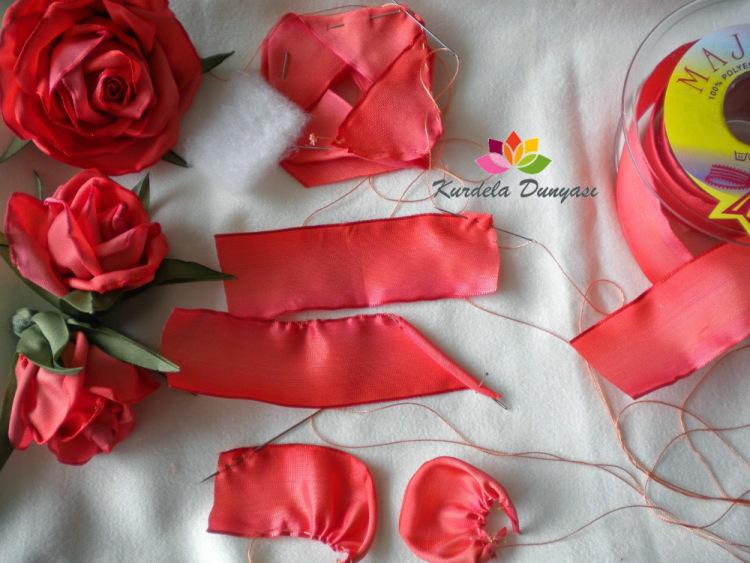 15 способов сделать цветы из лент 1