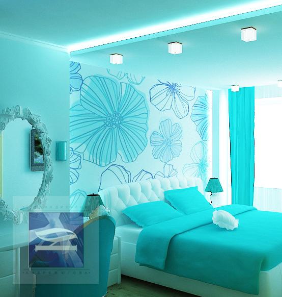 Дизайн комнат в бирюзовых тонах