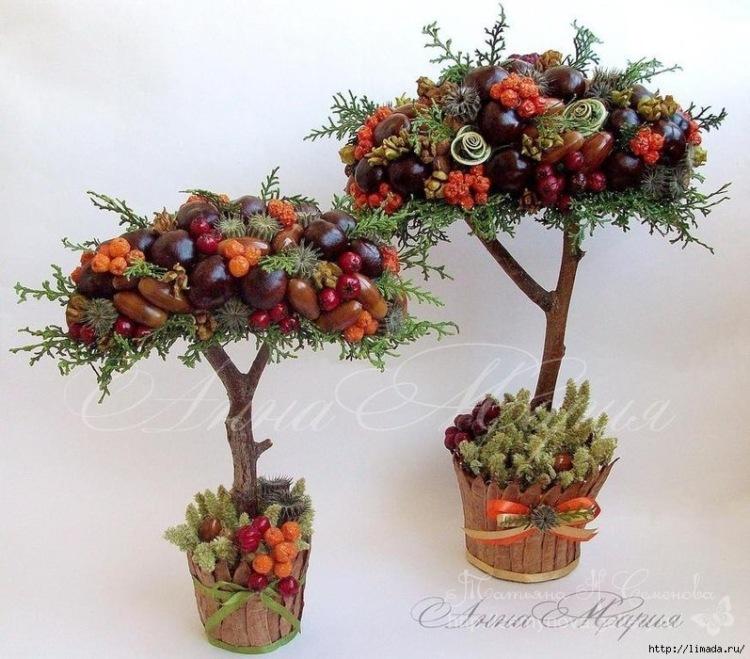 Европейское дерево из шишек мастер класс - УО РМД