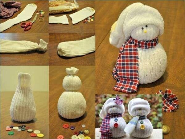 Из чего сделать снеговика своими руками из ткани