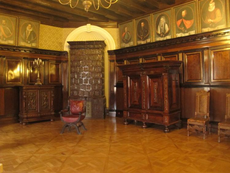 Замок Несвиж. Каминный (Большой Столовый) зал