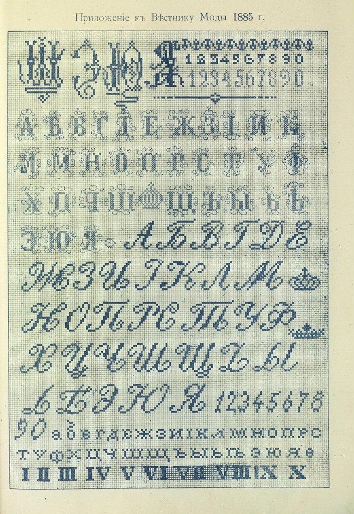 Алфавит и цифры вышивка крестом